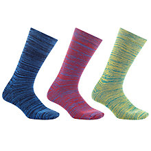 Buy Kin by John Lewis Spacedye Socks, Pack of 3, One Size, Multi Online at johnlewis.com