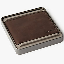 Buy Fossil Nova Slim L-Zip Bifold Wallet, Brown Online at johnlewis.com
