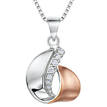 Buy Jools by Jenny Brown Cubic Zirconia Two Toned Curl Necklace, Rose Gold/Silver Online at johnlewis.com
