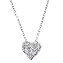 Buy Jools by Jenny Brown Cubic Zirconia Valentine Necklace, Silver Online at johnlewis.com