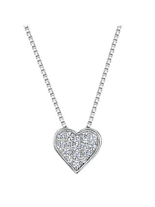 Jools by Jenny Brown Cubic Zirconia Valentine Necklace, Silver
