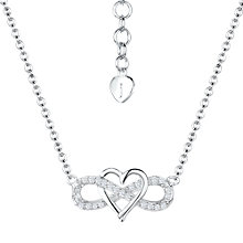 Buy Jools by Jenny Brown Cubic Zirconia Suspended Heart Necklace, Silver Online at johnlewis.com