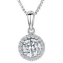 Buy Jools by Jenny Brown Cubic Zirconia Circular Necklace, Silver Online at johnlewis.com