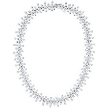 Buy Jools by Jenny Brown Cubic Zirconia Statement Necklace, Silver Online at johnlewis.com