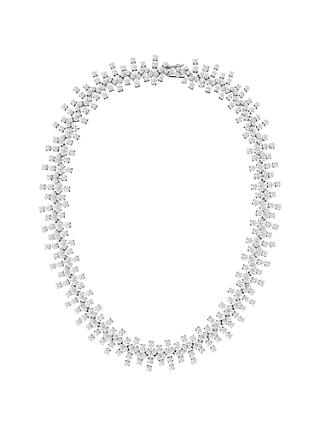 Jools by Jenny Brown Cubic Zirconia Statement Necklace, Silver
