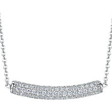 Buy Jools by Jenny Brown Cubic Zirconia Jewelled Bar Necklace, Silver Online at johnlewis.com