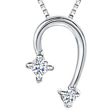 Buy Jools by Jenny Brown Cubic Zirconia Curved Necklace, Silver Online at johnlewis.com