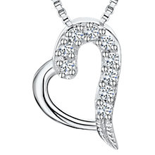 Buy Jools by Jenny Brown Cubic Zirconia Heart Necklace, Silver Online at johnlewis.com