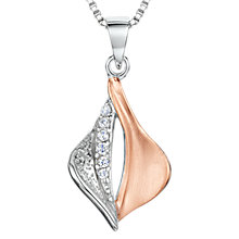 Buy Jools by Jenny Brown Cubic Zirconia Two Toned Melting Diamond Necklace, Rose Gold/Silver Online at johnlewis.com