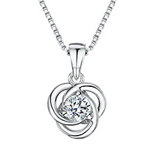 Buy Jools by Jenny Brown Cubic Zirconia Venn Circle Necklace, Silver Online at johnlewis.com