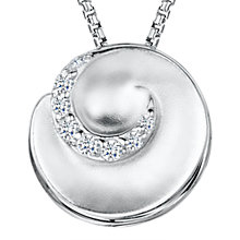 Buy Jools by Jenny Brown Cubic Zirconia Swirl Pendant Necklace, Silver Online at johnlewis.com