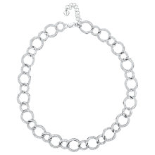 Buy Jools by Jenny Brown Cubic Zirconia Linked Circles Necklace, Silver Online at johnlewis.com