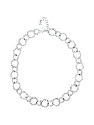 Jools by Jenny Brown Cubic Zirconia Linked Circles Necklace, Silver