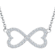Buy Jools by Jenny Brown Cubic Zirconia Fused Hearts Necklace, Silver Online at johnlewis.com