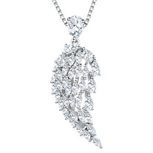 Buy Jools by Jenny Brown Cubic Zirconia Angel Wing Necklace, Silver Online at johnlewis.com