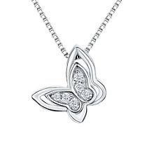 Buy Jools by Jenny Brown Cubic Zirconia Butterfly Necklace, Silver Online at johnlewis.com