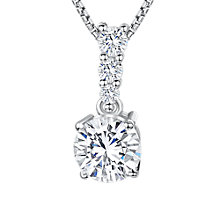 Buy Jools by Jenny Brown Cubic Zirconia Drop Stemmed Stone Necklace, Silver Online at johnlewis.com