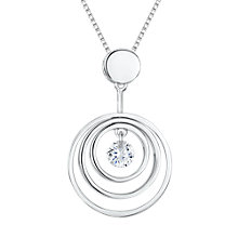 Buy Jools by Jenny Brown Sterling Silver Cubic Zirconia Pendant Necklace, Silver Online at johnlewis.com