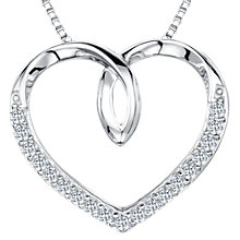 Buy Jools by Jenny Brown Cubic Zirconia Looped Heart Necklace, Silver Online at johnlewis.com