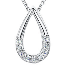 Buy Jools by Jenny Brown Cubic Zirconia Drop Necklace, Silver Online at johnlewis.com