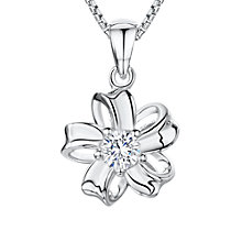 Buy Jools by Jenny Brown Cubic Zirconia Looped Bloom Necklace, Silver Online at johnlewis.com