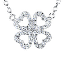 Buy Jools by Jenny Brown Cubic Zirconia Mirrored Hearts Necklace, Silver Online at johnlewis.com