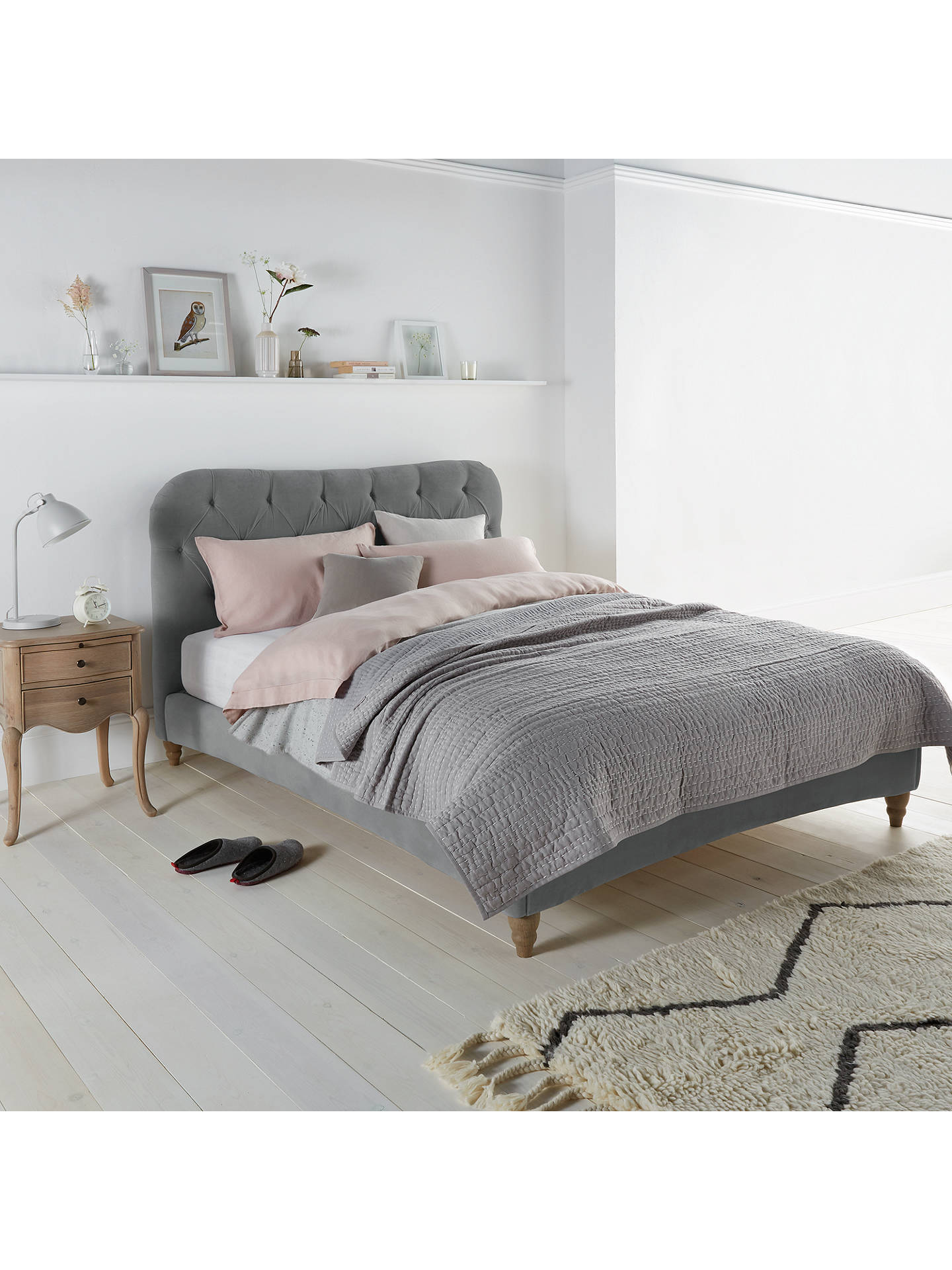 Buy Brioche Bed Frame by Loaf at John Lewis in Clever Linen, Super King Size, Meteor Grey Online at johnlewis.com