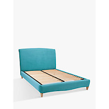 Buy Fudge Bed Frame by Loaf at John Lewis in Clever Velvet, Super King Size Online at johnlewis.com