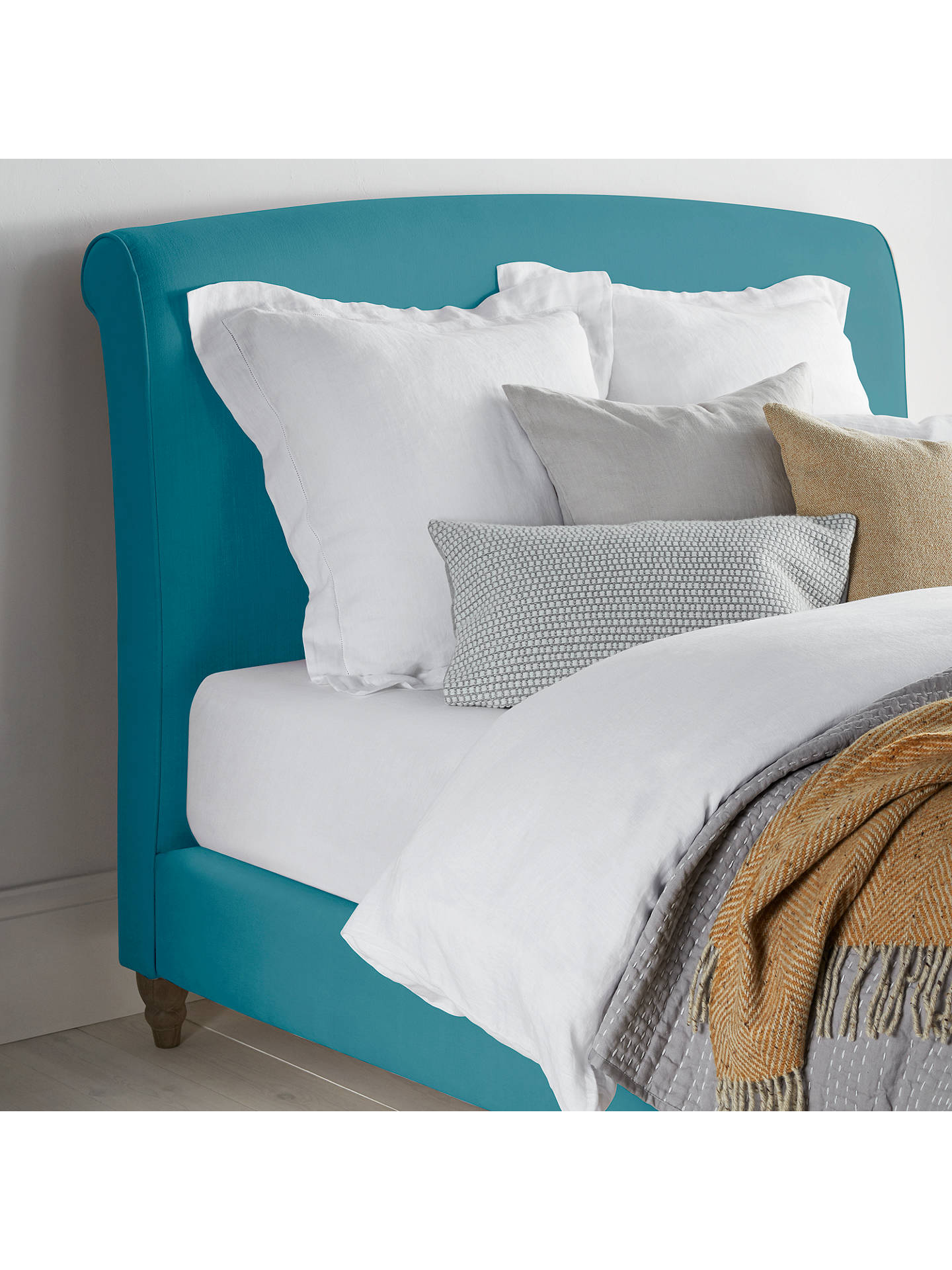 Buy Fudge Bed Frame by Loaf at John Lewis in Clever Velvet, Super King Size, Belize Online at johnlewis.com