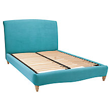 Buy Fudge Bed Frame by Loaf at John Lewis in Clever Velvet, Double Online at johnlewis.com