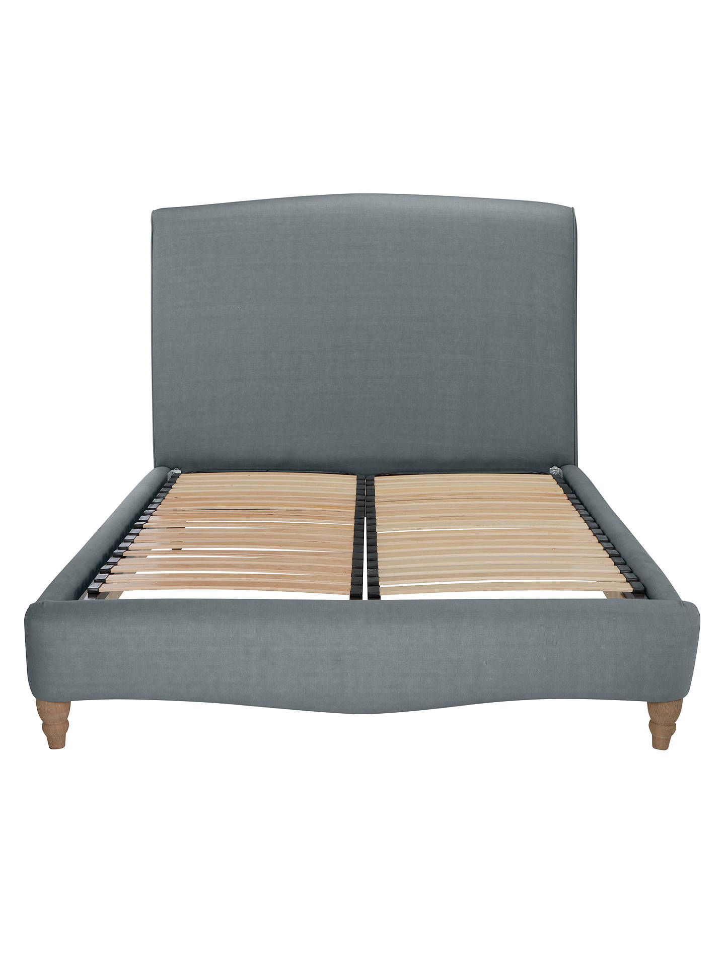 Buy Fudge Bed Frame by Loaf at John Lewis in Clever Linen, King Size, Meteor Grey Online at johnlewis.com