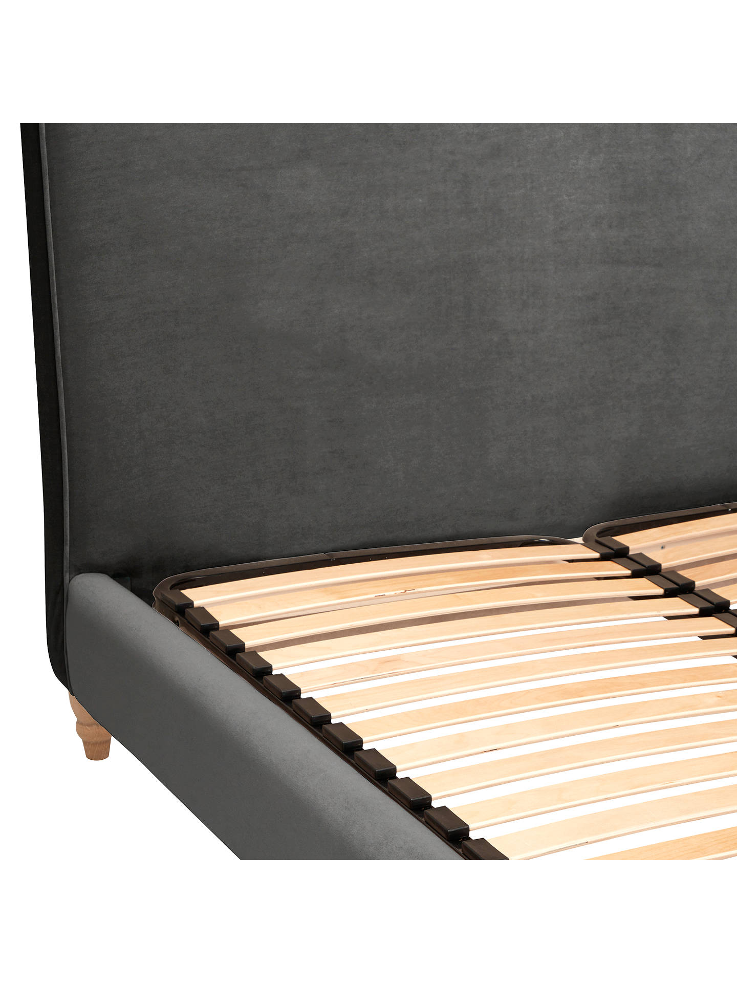 Buy Fudge Bed Frame by Loaf at John Lewis in Clever Velvet, Super King Size, Steel Online at johnlewis.com