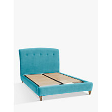 Buy Peachy Bed Frame by Loaf at John Lewis in Clever Velvet, Double Online at johnlewis.com