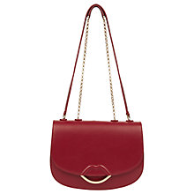 Buy Lulu Guiness Isabella Half Covered Lips Leather Medium Cross Body Bag, Red Online at johnlewis.com