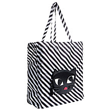 Buy Lulu Guinness Kooky Cat Foldaway Shopper, Black Online at johnlewis.com