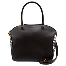 Buy Lulu Guiness Bella Leather Scattered Lips Medium Shoulder Bag, Black/Chalk Online at johnlewis.com
