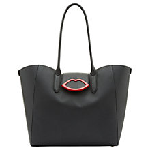 Buy Lulu Guinness Cupid's Bow Sofia Tote Bag, Black Online at johnlewis.com