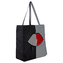 Buy Lulu Guinness 50:50 Striped Lip Foldaway Shopper Bag, Multi Online at johnlewis.com