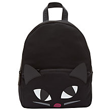 Buy Lulu Guinness Kooky Cat Medium Backpack, Black Online at johnlewis.com