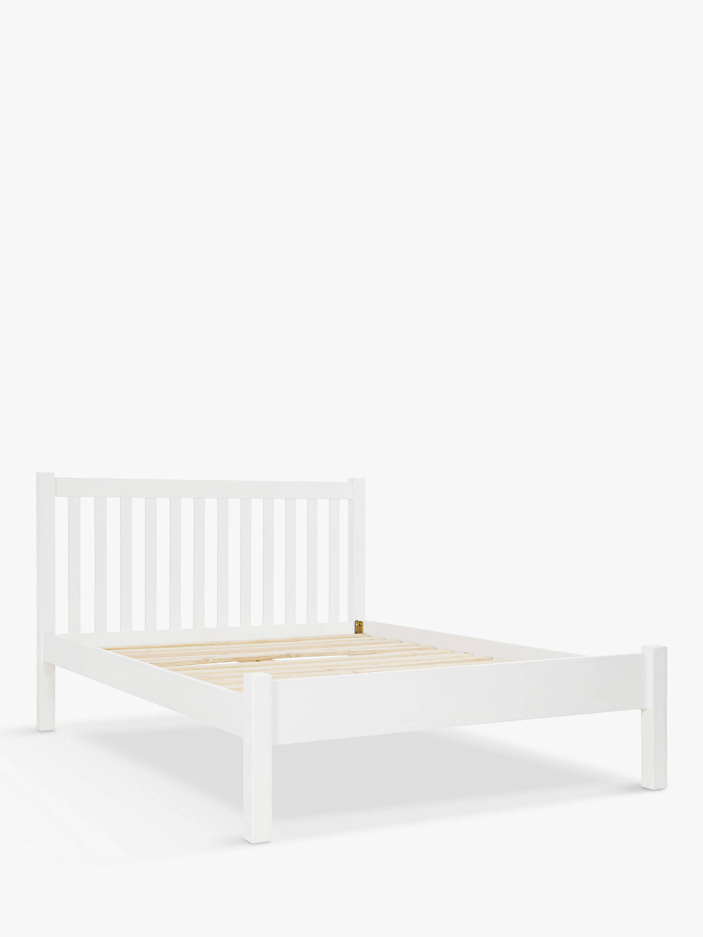John Lewis & Partners Wilton Bed Frame, Double, White