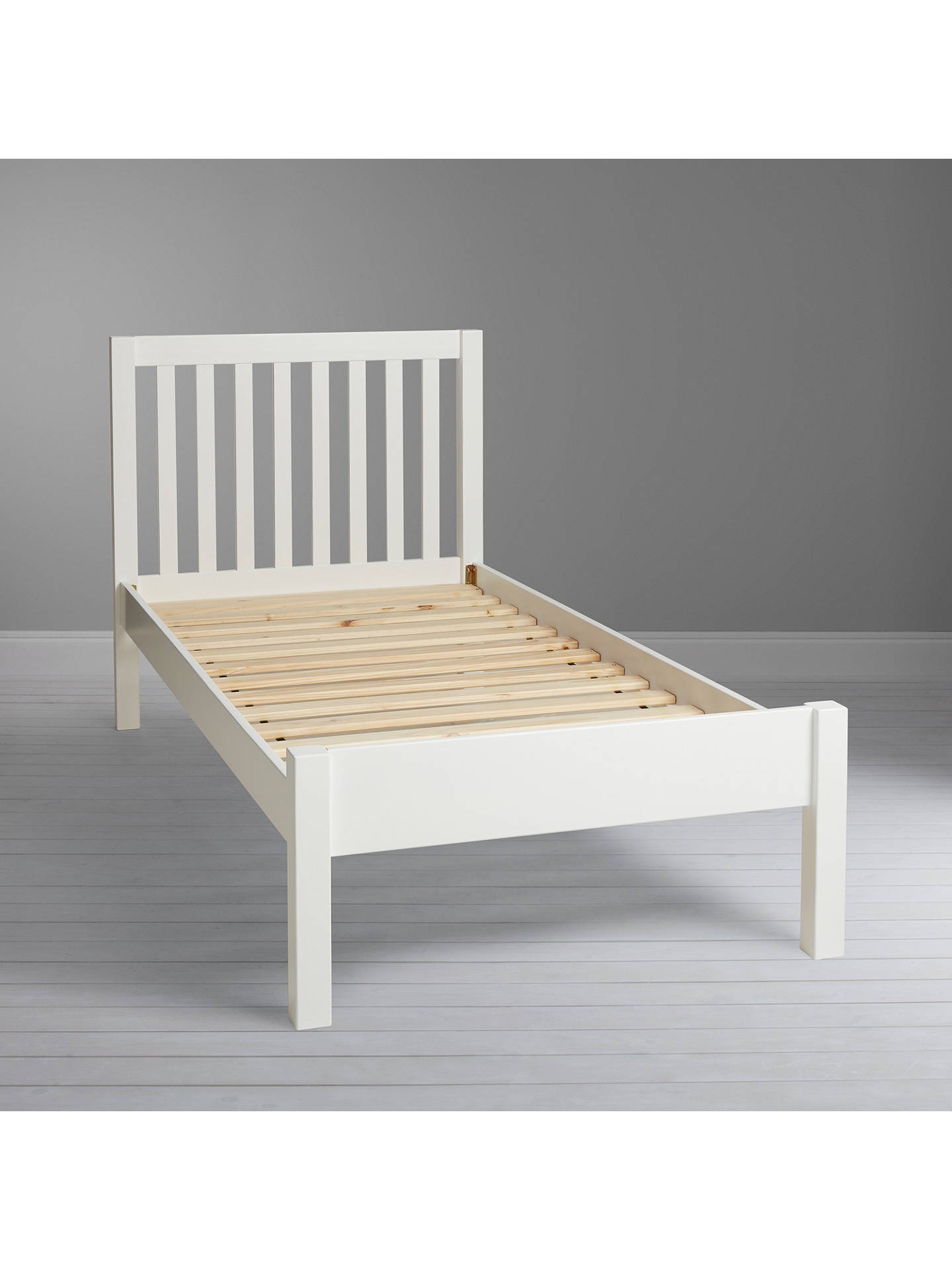 BuyJohn Lewis & Partners Wilton Child Compliant Bed Frame, Single, White Online at johnlewis.com
