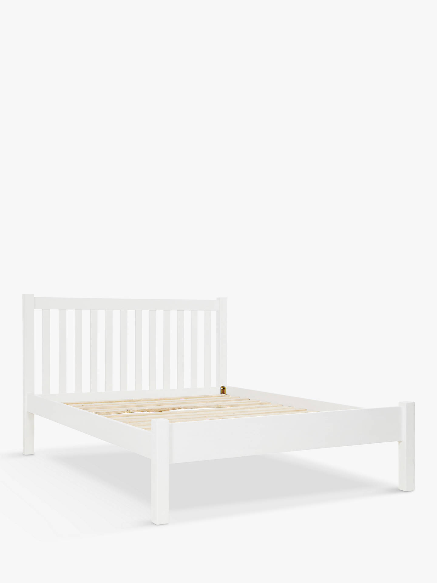BuyJohn Lewis & Partners Wilton Bed Frame, King Size, White Online at johnlewis.com