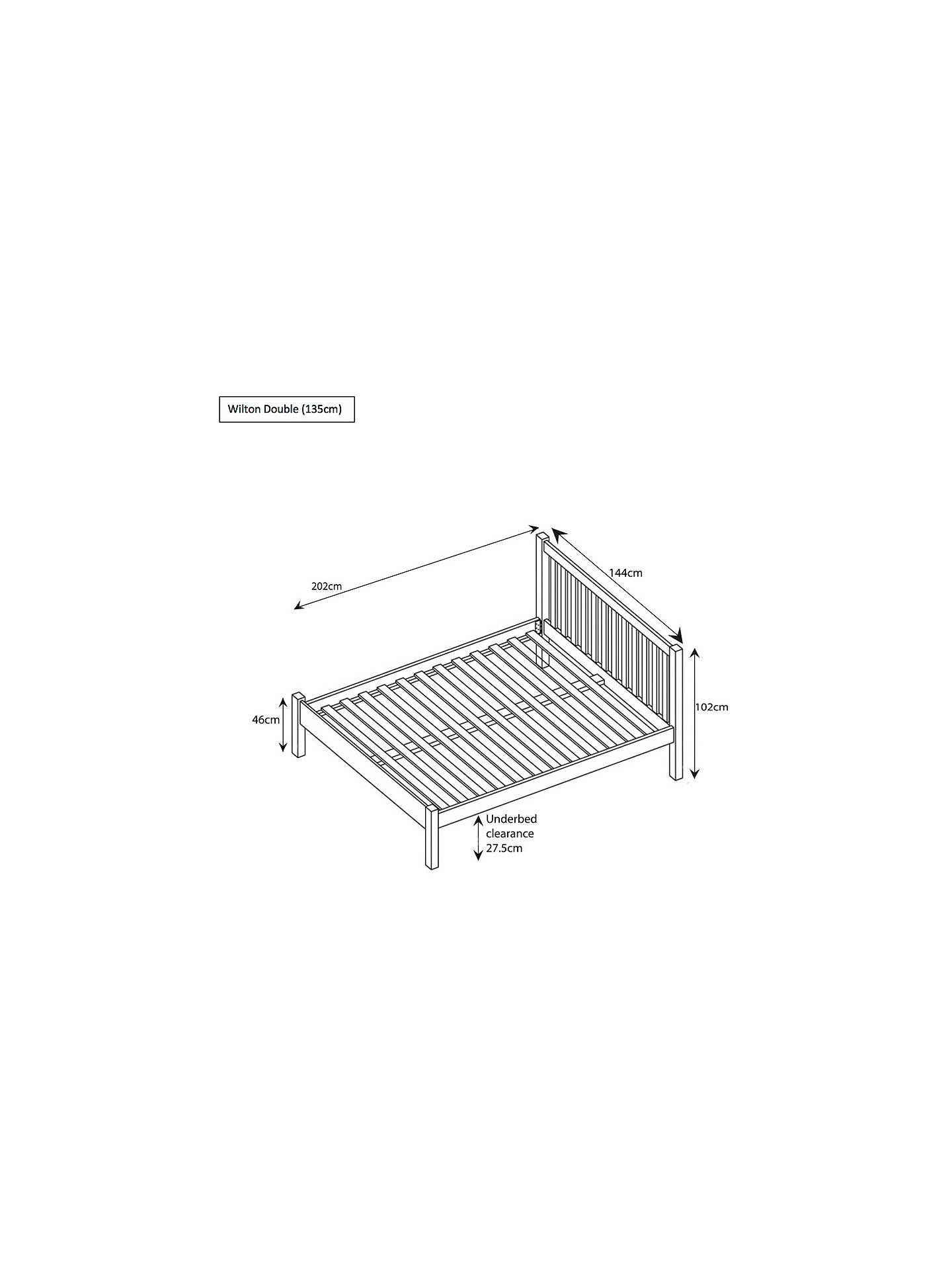 Buy John Lewis & Partners Wilton Bed Frame, Double, White Online at johnlewis.com
