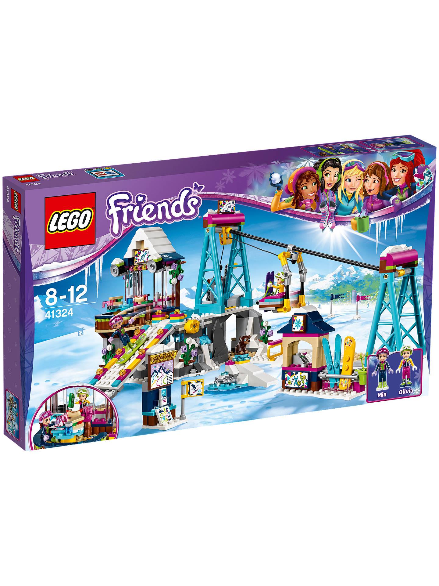 Lego Friends 41324 Snow Resort Ski Lift At John Lewis Partners
