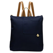 Buy Radley Pocket Essentials Fabric Large Backpack, Navy Online at johnlewis.com