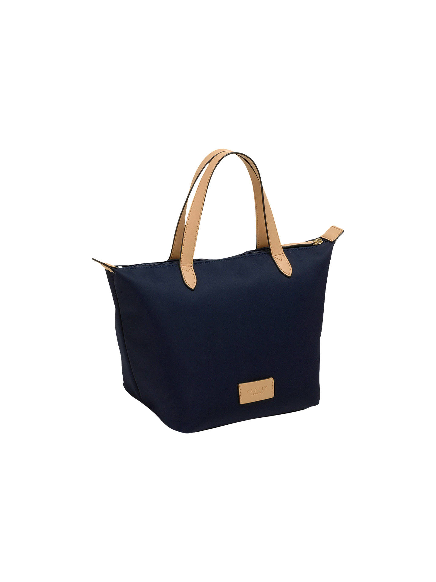 BuyRadley Pocket Essentials Fabric Small Crook Tote Bag, Navy Online at johnlewis.com