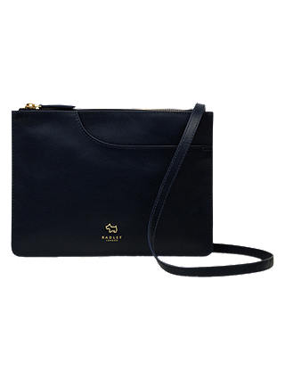 Buy Radley Pocket Leather Medium Cross Body Bag, Navy Online at johnlewis.com