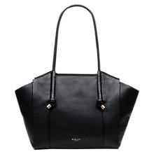 Buy Radley Eltham Gardens Leather Large Tote Bag, Black Online at johnlewis.com