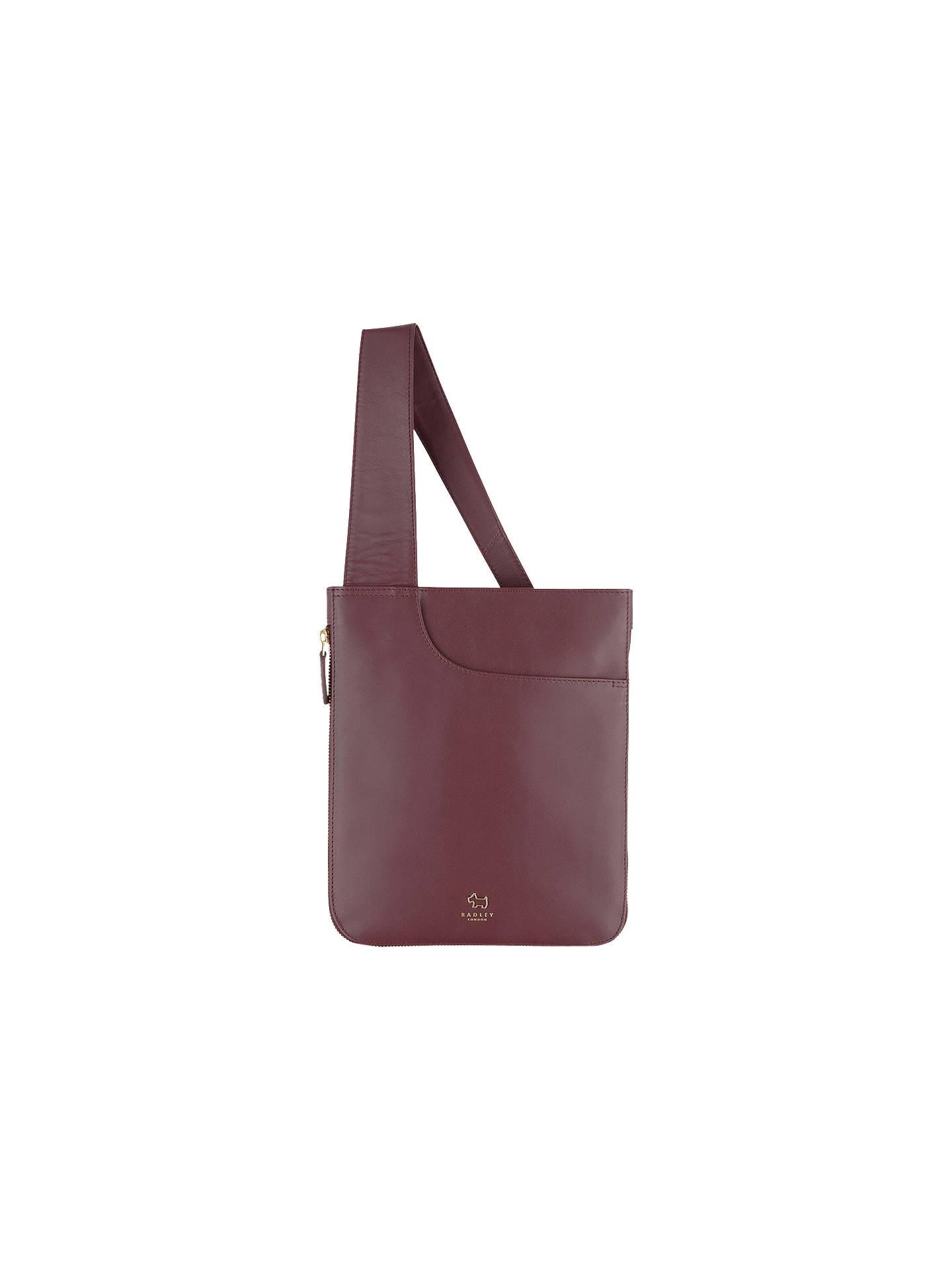 4b8d61f03b702e Radley Pockets Leather MEDIUM ZIP TOP Crossbody Bag, Burgundy, BNWT ...