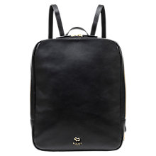 Buy Radley Greyfriars Gardens Leather Medium Backpack, Black Online at johnlewis.com